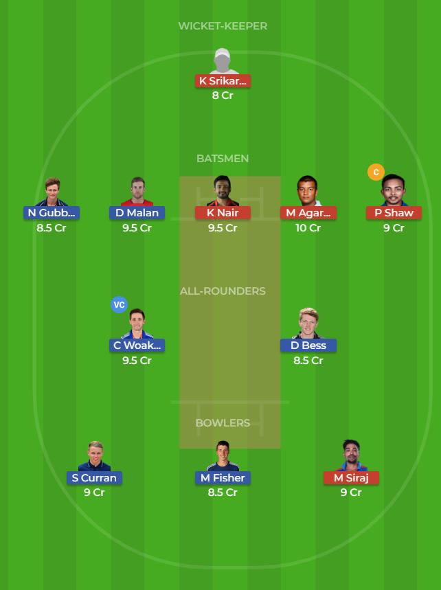 EN-A vs IN-A Dream11 Team