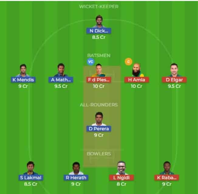 SL vs SA Dream11 Team