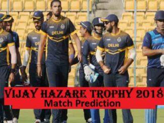 Vijay Hazare Trophy Match Prediction